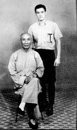 Le maître Yip Man et son élève, Bruce Lee