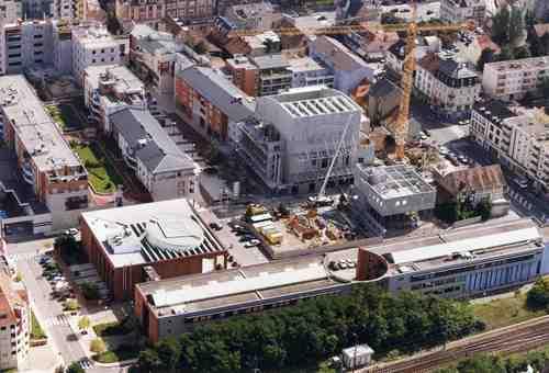 Vue aérienne de la ville de Saint-Louis