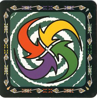 Flèches multicolores