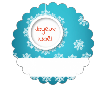 Etiquettes avec nom pour les cadeaux de Noël